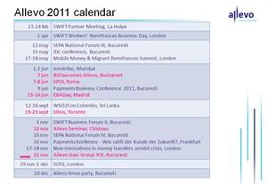 Allevo 2011 calendar