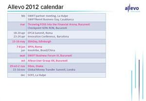 Allevo 2012 calendar