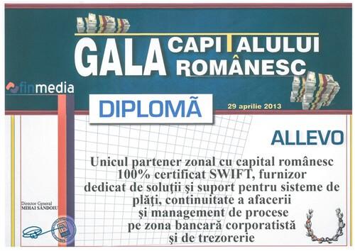 Romanian Capital Gala Diploma