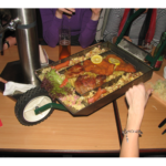 A small barrow of food